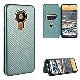 SHUFEIVICC pour Nokia 5.3 Texture de la Fibre de Carbone Flip Horizontale magnétique TPU + PC +...