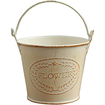 Kawaii Shabby chic ferro fiore secchi piante fioriera secchio vasi di fiori casa balcone decorazione floreale