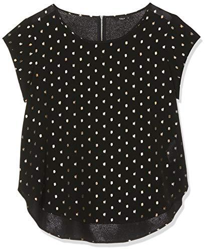 ONLY Damen 15166425 T-Shirt, Schwarz (Black AOP: Silver Dots), (Herstellergröße: 44)