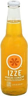 Izze Clementine Sparkling Juice, 12 Ounce (24 Glass Bottles)