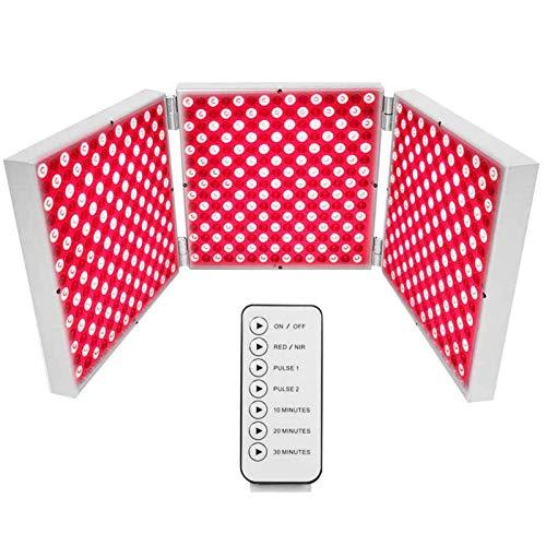 45-W-LED-Lichttherapie-Panel Mit Roter LED, Gefaltetes Dunkelrotes 660-Nm- Und 850-Nm-LED-Lichttherapie-Kombinationssystem Im Nahinfrarot Mit Timer Für Anti-Aging,Muskelregeneration Und Hautgesundheit