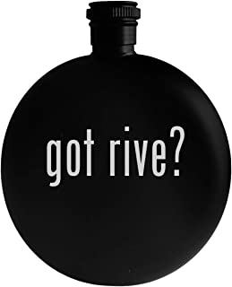 got rive? - 5oz Round Alcohol Drinking Flask, Black