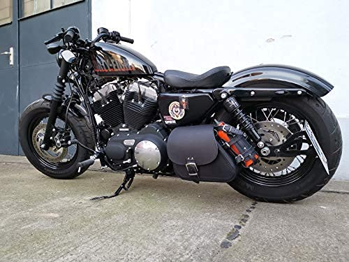 Sporty Nettoyer Noir Noir Sacoche Oscillant Harley Davidson Sportster XL Quarante Huit Orletanos Bikertaschen sans Support Moto HD Sacoche de Selle Poche Latérale