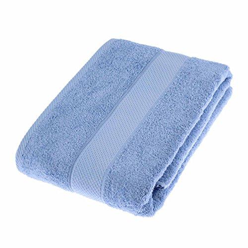 HOMESCAPES Toalla baño Grande, 100% algodón Turco Absorbente y Suave, Color Azul Cielo 100 x 150 cm