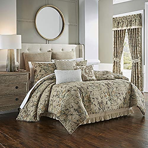 Waverly Volterra Porcini with Bed Skirt and 2 Pillow Shams, King, Multi