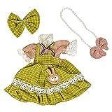 perfeclan 26cm Mini Vestido de muñeca de niña Ropa de muñeca de niña Prendas a Juego Vestir Accesorios de Ropa - Verde