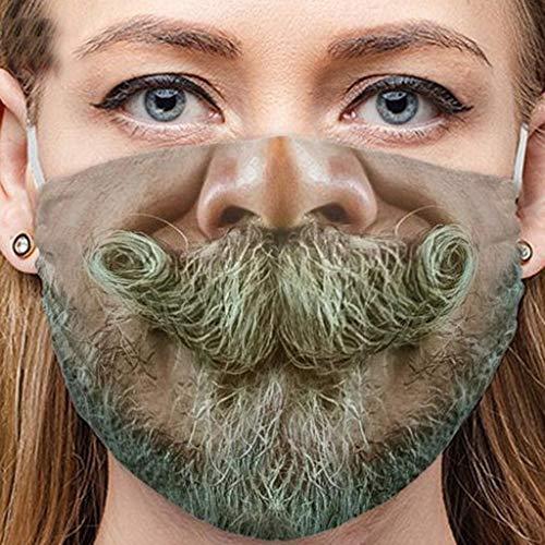 Sannysis Lustige Mundschutz Waschbar Baumwolle mit Motiv Bandana Multifunktionstuch für Herren Damen Mund und Nasenschutz Staubdicht Halstuch (F)