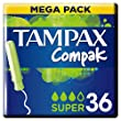 Tampax Compak Plastic Tampons with Applicator
