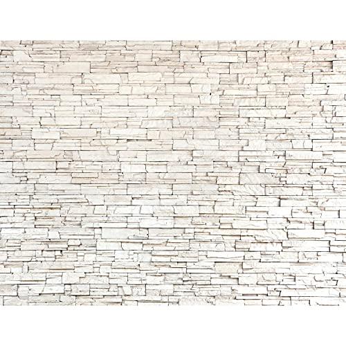 Fototapete Steinwand 396 x 280 cm - Vlies Wand Tapete Wohnzimmer Schlafzimmer Büro Flur Dekoration Wandbilder XXL Moderne Wanddeko - 100% MADE IN GERMANY - 9019012c