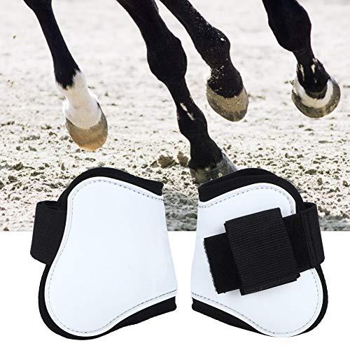 Cikonielf 2 stuks Horse Leg Boot paard peesbeschermer Gamas paard been laarzen Horse Leg Wrap Witte Horse Leg Protection Boot Professionele rijuitrusting, #2