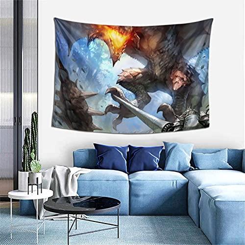 Tapiz para colgar en la pared, diseño de cazador de monstruos, para dormitorio, decoración de pared, manta de playa, 100 x 150 cm