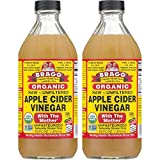 Bragg Organic Raw Unfiltered Apple Cider Vinegar with The Mother, 16 ounce, 2 Pack