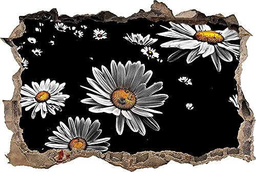 Pegatinas pared - Murales Little Daisy Extraíble Agujero rasgado Decoración Papel tapiz Pvc Art Nursery School Artwork Nursery Wall Décor - 50x70cm
