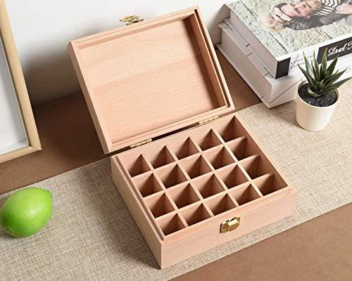 Caja de almacenamiento de esmalte de uñas,caja de almacenamiento de madera para aceites esenciales,capacidad para 20 botellas. Organizador de aromaterapia,contenedor de fragancia para esmaltes de uñas