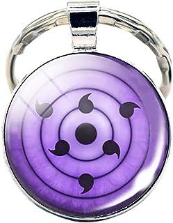 Sharingan Rinnegan Pendant Keychain Key Ring - Metal (0.7 oz)