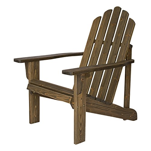 Shine Company Rustic Adirondack Chair, Barnwood