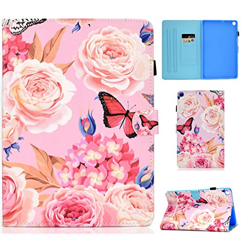 WHWOLF Suitable for Samsung Galaxy Tab A7 10.4 Case 2020 SM-T500/ SM-T505 Tablet Case with Card Holder & Fold Stand & Magnetic Clasp & Silicone TPU Protective Flip Cover Shell -q54