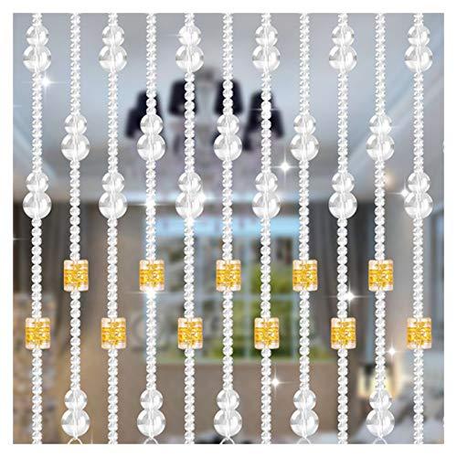 CHAXIA Cortina De Cuentas, Cristal Cortina De Puerta Sala Cuarto Pasillo Cortina De Partición Tamaño Personalizado, 4 Colores (Color : C, Size : 25 strands-80X86CM)