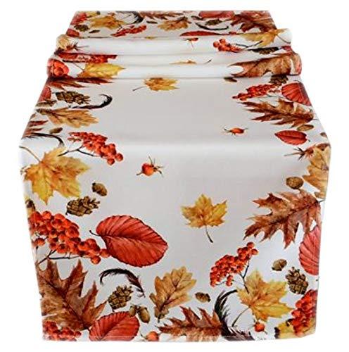 Raebel Tischdecke Herbst Pflegeleicht Decke Herbstdecke Tischläufer Läufer (40 x 140 cm)