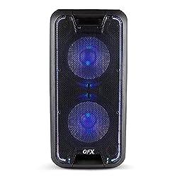 commercial QFX PBX-100 Dual 10inch Portable Party Speaker, Black qfx bluetooth speaker