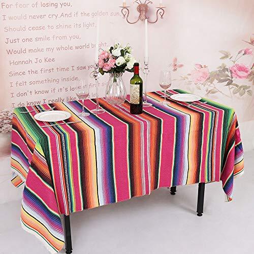 TRLYC Handgefertigte mexikanische Baumwolldecke Hochzeit Tischdecke mexikanischer Stil Decke Reise Camping Baby Spielen Bett Abdeckung 145 x 180 cm