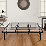 Boyd Sleep Finnish Platform Bed Frame/Metal Mattress Foundation with Adjustable Hardwood Slats, Black, Full