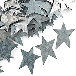 Factory Direct Craft Set of 100 Galvanized Metal Primitive Stars for Crafting, Creating and Embellishing   1-3/4