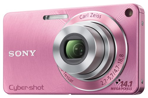 Sony DSC-W350 - Cámara Digital Compacta, 14.1 MP (2.7 pulgadas, 4x Zoom óptico) - Rosa