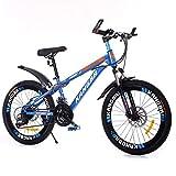 GZMUK 20,22,24,26 Zoll Kinderfahrrad 7 Geschwindigkeit Kinderrad Mountainbike Doppelscheibenbremse Mädchen Und Jungen Ab 10 Jahre,Blau,26 in