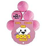 Pelotas de tenis para perros, cachorros, perros pequeños o gatos de The Dog's Balls The Little Dog. Para ejercicio, juego, entrenamiento y fetch. Too - Pequeño para lanzadores de chuckes, el rey Kong de pelotas de perro