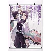 Anime Demon Slayer: Kimetsu No Yaiba Kamado Tanjirou Kamado Nezuko Wall Scroll Poster Wall Hanging Poster Home Decor 40x60cm,16inchx24inch