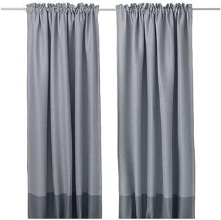 IKEA MARJUN Blackout curtains, 1 pair, Gray (W:57
