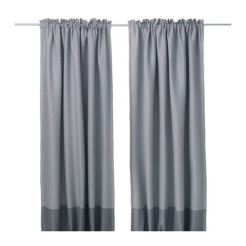 Ikea Block-out curtains, 1 pair, gray 1626.292614.1010