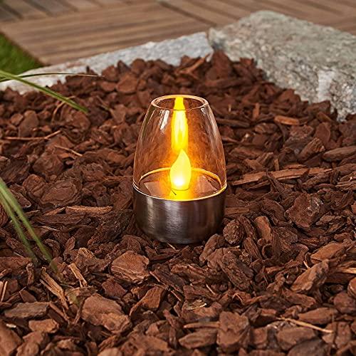 Lindby LED Solarleuchten \'Pedas\' (spritzwassergeschützt) (Modern) in Alu aus Edelstahl (10 flammig, inkl. Leuchtmittel) - Solarlampe, Solarleuchte Garten