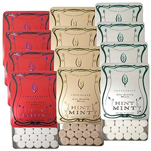 ヒントミント クラシックラベル 3種12個セット (ザクロ&アサイ ペパーミント チョコレートミント 3種×各23g×4個)