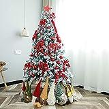 XH&XH Material pre-Iluminado PVC Árbol de Navidad Artificial Árbol Artificial pre-Decorado Árbol de Abeto Soporte Plegable Adornos de decoración Árbol de Navidad-300cm (9.8ft) B
