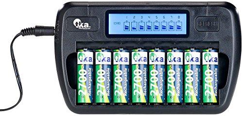 tka Köbele Akkutechnik Akku Ladegerät: Ladegerät für 8 AA(A)-Akkus, LCD-Display und Einzelschacht-Überwachung (AAA Ladegerät)