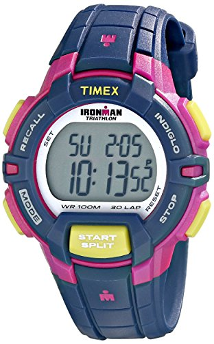 Timex Women's T5K813 Ironman Rugged 30 Mid-Size Blue/Pink Color...