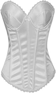 Alivila.Y Fashion Womens Lace Bridal Corset Torsolette 2269A(Without G-String)