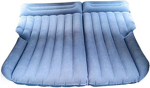 Coussin Gonflable de siège arrière de lit de Matelas d'air de Voiture SUV multifonctionnelle résistante avec 2 oreillers et Pompe pour Le Voyage Camping Plage Reposez Parc de pelouse de Pique-Nique