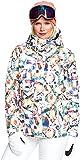 Roxy - Junior Jetty Jk Jacket, Size: Medium, Color: Bright White Magic Carpet