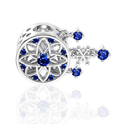 Samine Dream Catcher Charms Women Gift Christmas Snowflake Charms for European Bracelet
