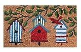 Felpudo de Coco Natural, felpudos Entrada casa, Alfombra Limpia Zapatos, Felpudo Exterior, Alfombra Entrada casa Interior, felpudos Originales y Divertidos, 40x70 (Casas)