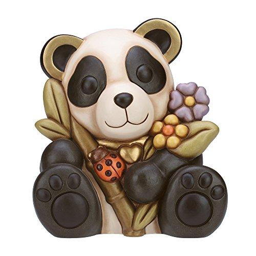 THUN - Panda con Fiori e Coccinella - I Classici, Figure - Idea Regalo...