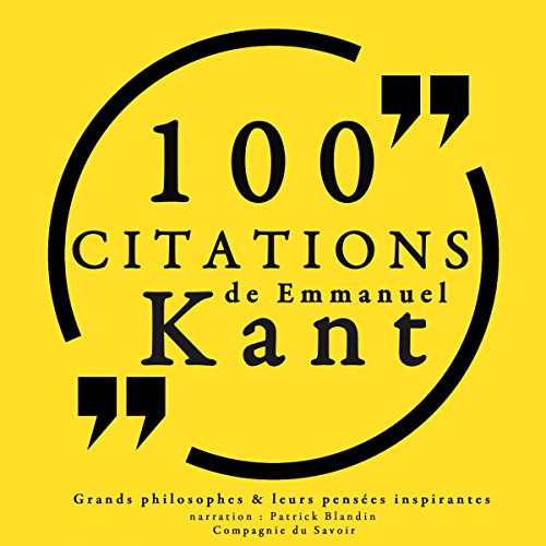 100 citations d'Immanuel Kant audiobook cover art