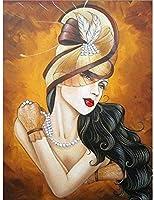XTTGGD 5DDiyダイヤモンド絵画女性帽子刺繡クロスステッチドリルラインストーン