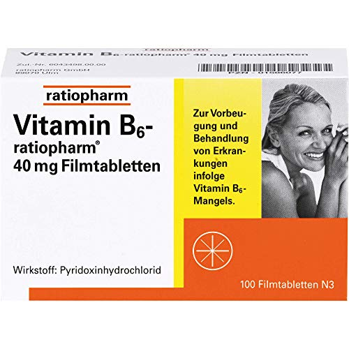 Vitamin B6-ratiopharm 40 mg Filmtabletten, 100 St. Tabletten