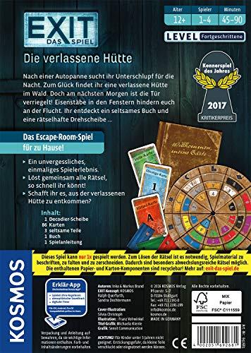 KOSMOS Spiele 692681 – Exit – Das Spiel, Die verlassene Hütte, Kennerspiel des Jahres 2017 - 2