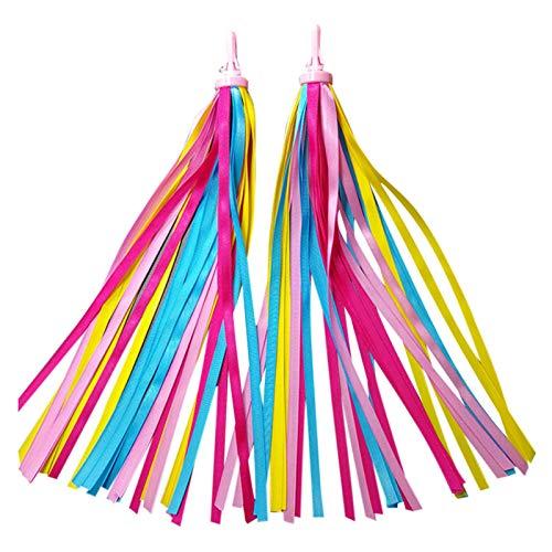 YEES Serpentinas de colores para niños, para manillar de bicicleta, serpentinas de aire, accesorios Agreeable Sweet