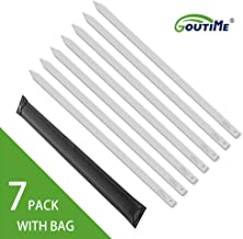 Goutime 27 Inch, 1 Inch Wide Stainless Steel Kabob Skewers Set for Grilling Persian, Brazilian Kebab (Set of 7)